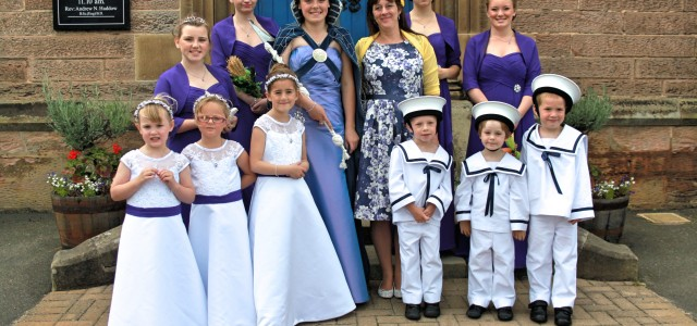 Crowning of the 71st Eyemouth Herring Queen.  Saturday 18th 2015